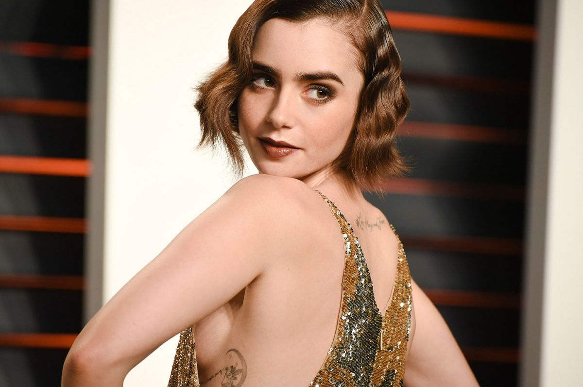 LILY COLLINS at Vanity...