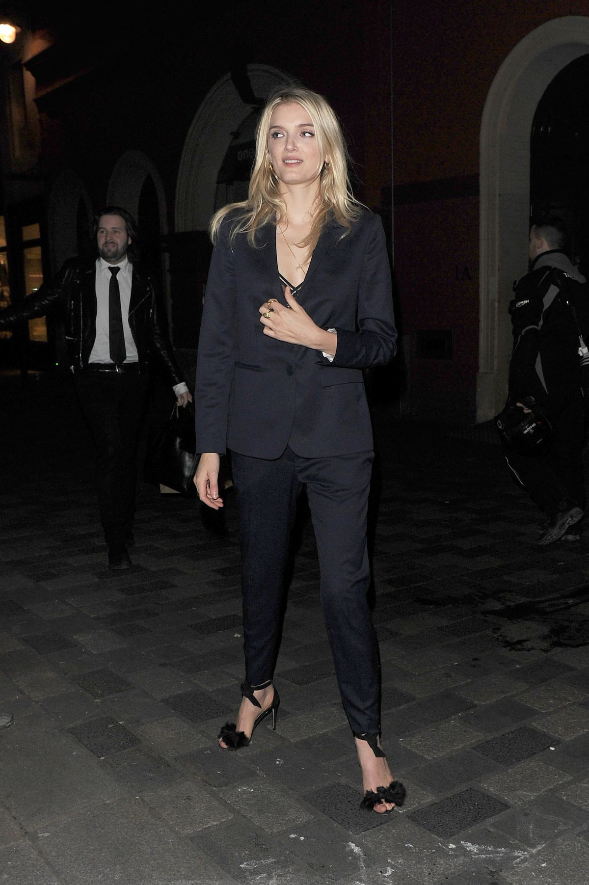 LILY DONALDSON Arrives at Pre-bafta Party at Little House Restaurant in London 02/12/2016