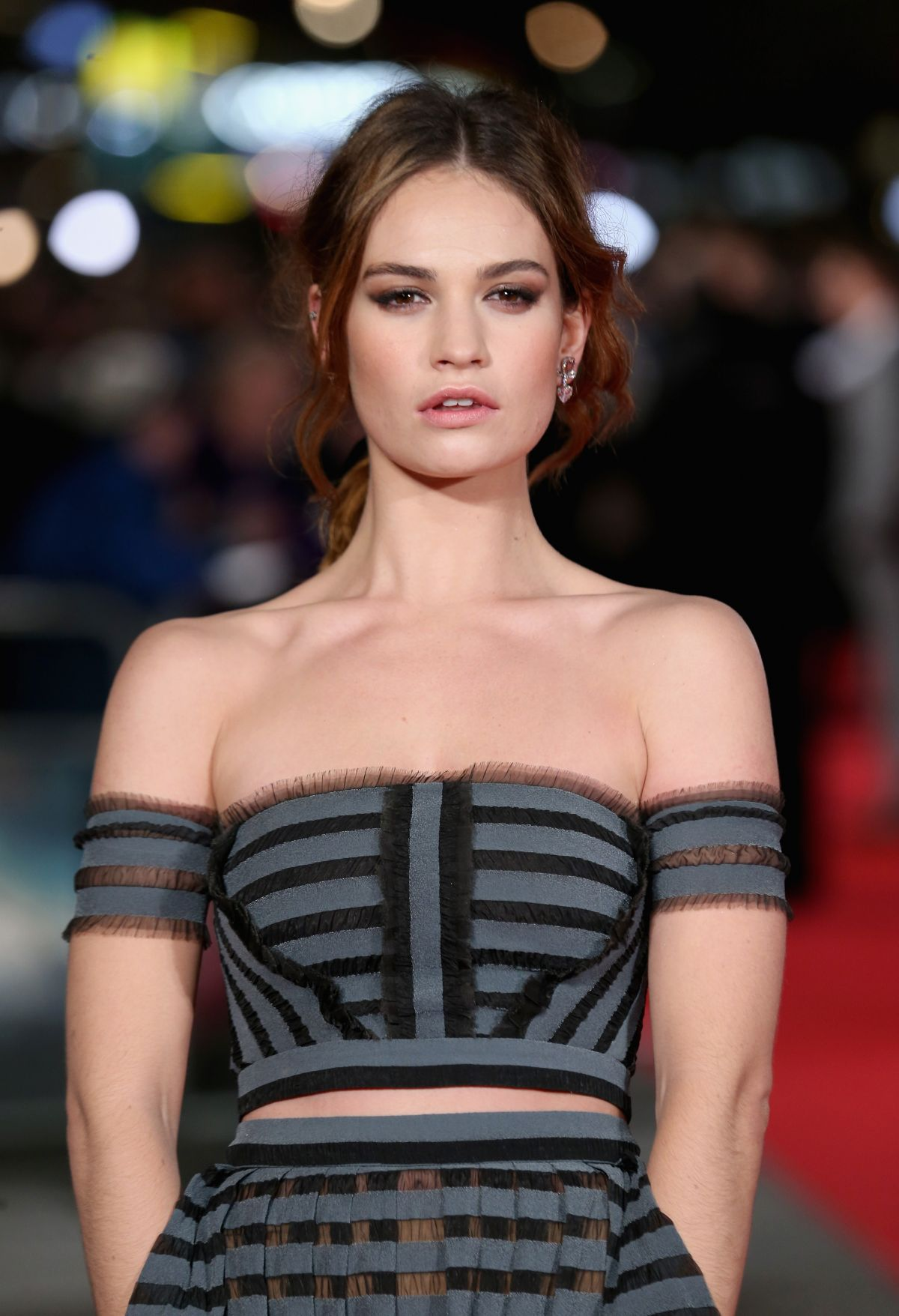 LILY JAMES at Pride and Prejudice and Zombies Premiere in London 02/01/2016