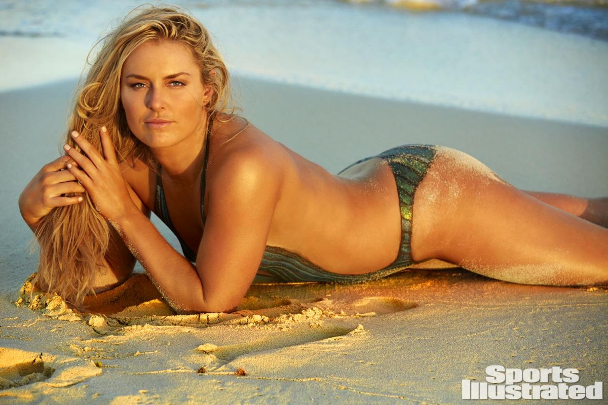 LINDSEY VONN In Sports Illustrated Swimsuit Bodypaint