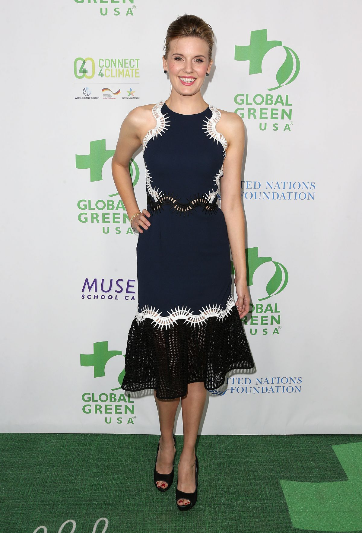 MAGGIE GRACE at Global Green USA's 13th Annual Pre-oscar Party in Beverly Hills 02/24/2016