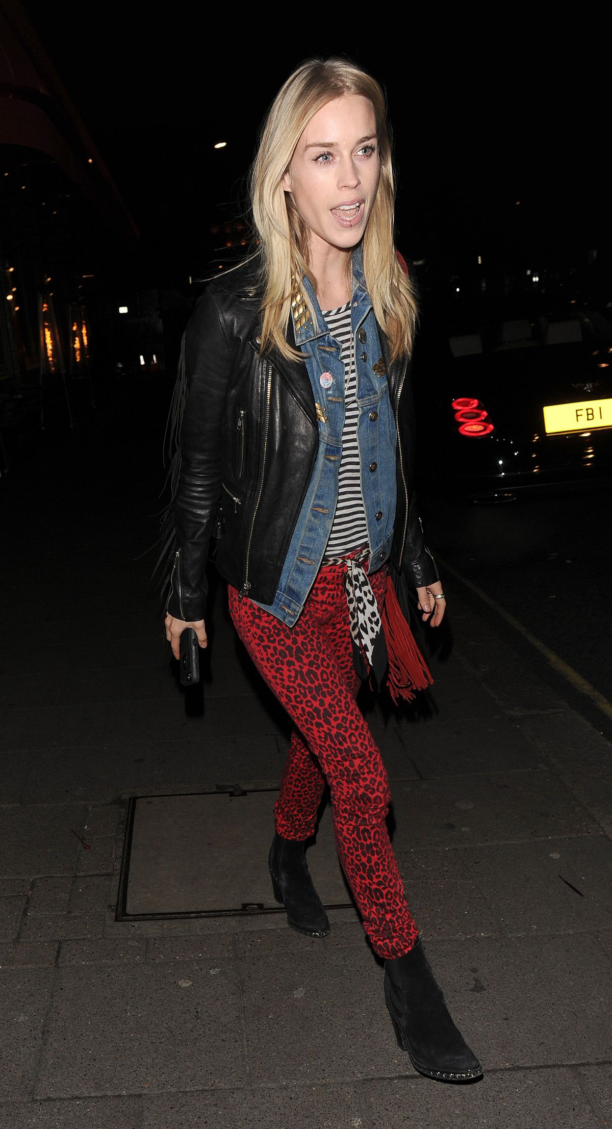 MARY CHARTERIS Leaves Sexy Fish Restaurant in London 02/16/2016