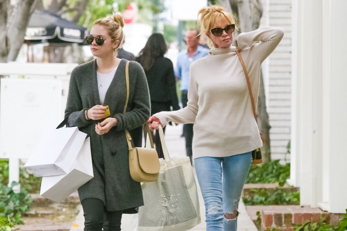 MELANIE GRIFFITH and STELLA BANDERAS Out and About in Los Angeles 01/29/2016