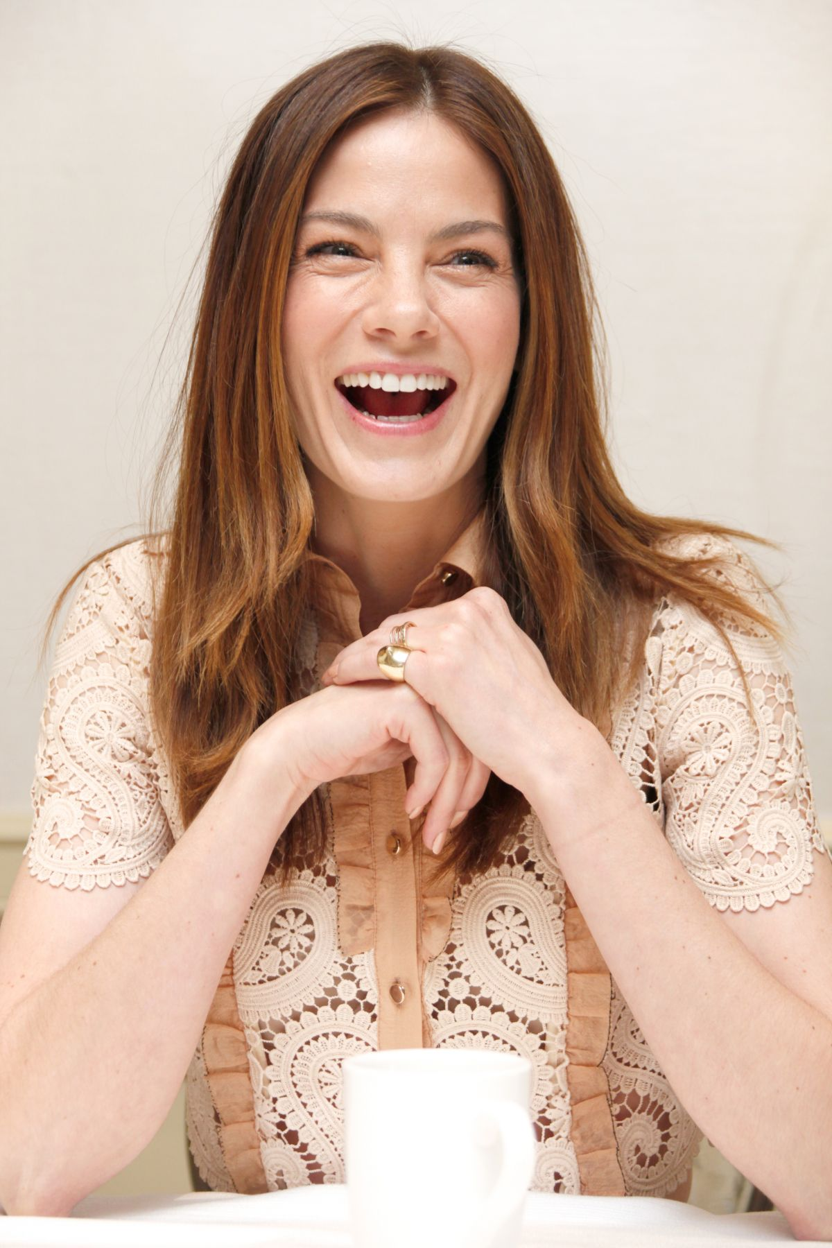 MICHELLE MONAGHAN at The Path Press Conference in Beverly Hills 02/18/2016