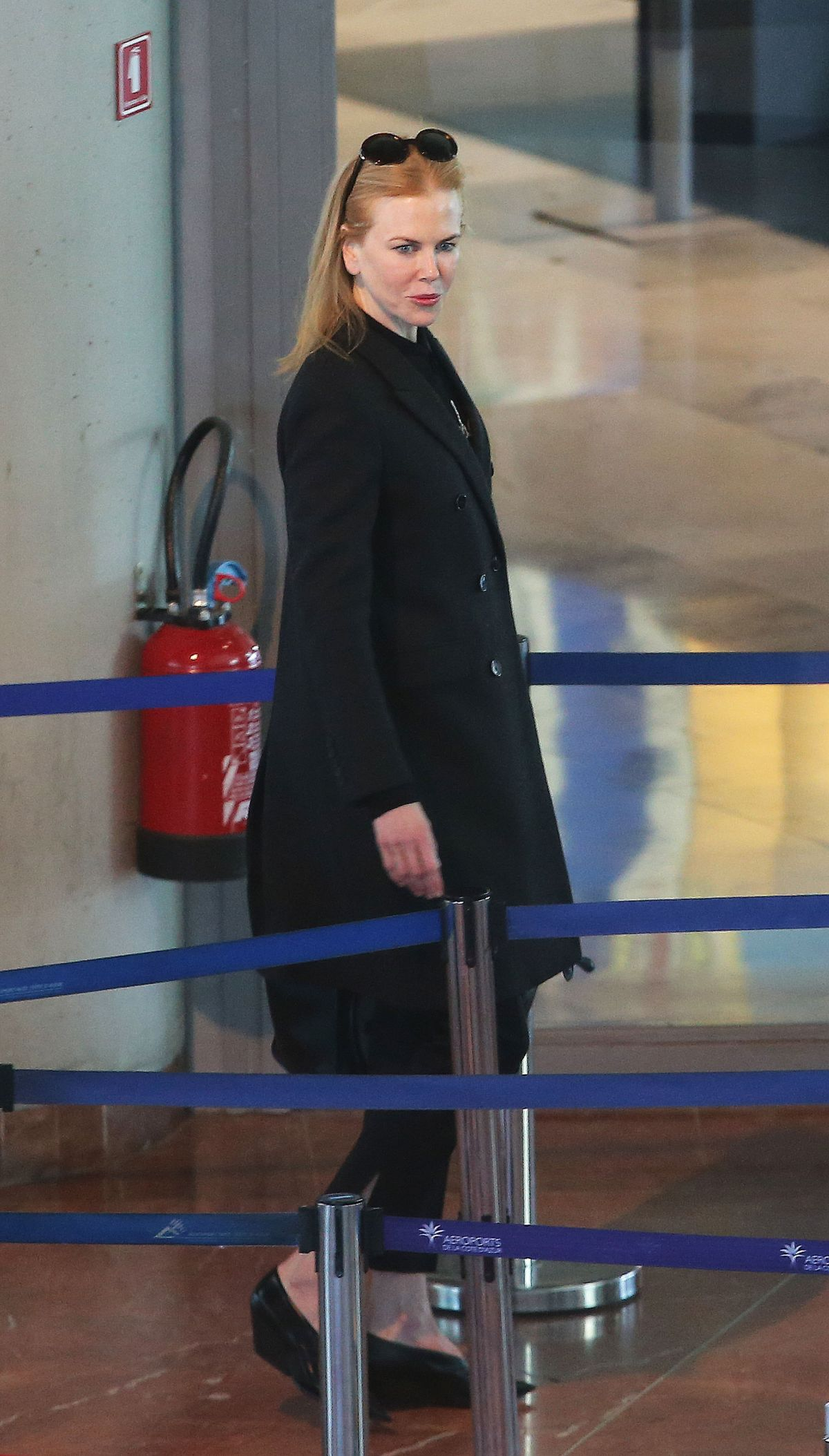 NICOLE KIDMAN at Airport in Nice 02/11/2016
