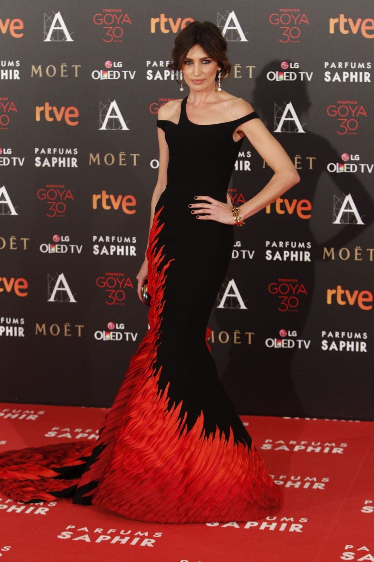 NIEVES ALVAREZ at 30th Annual Goya Film Awards in Madrid 02/06/2016