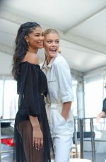 NINA AGDAL and CHANEL IMAN at SI Swimsuit 2016 Swim Beach in Miami 02/17/2016