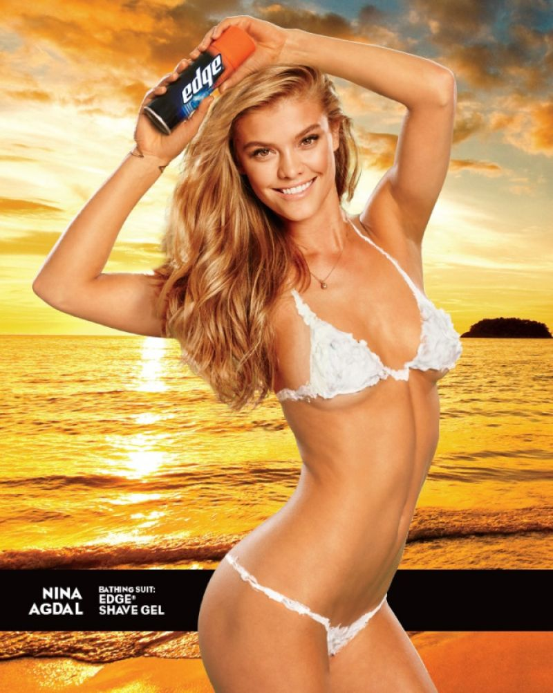 NINA AGDAL in Shaving Cream Bikini for SI Swimsuit Issue lq