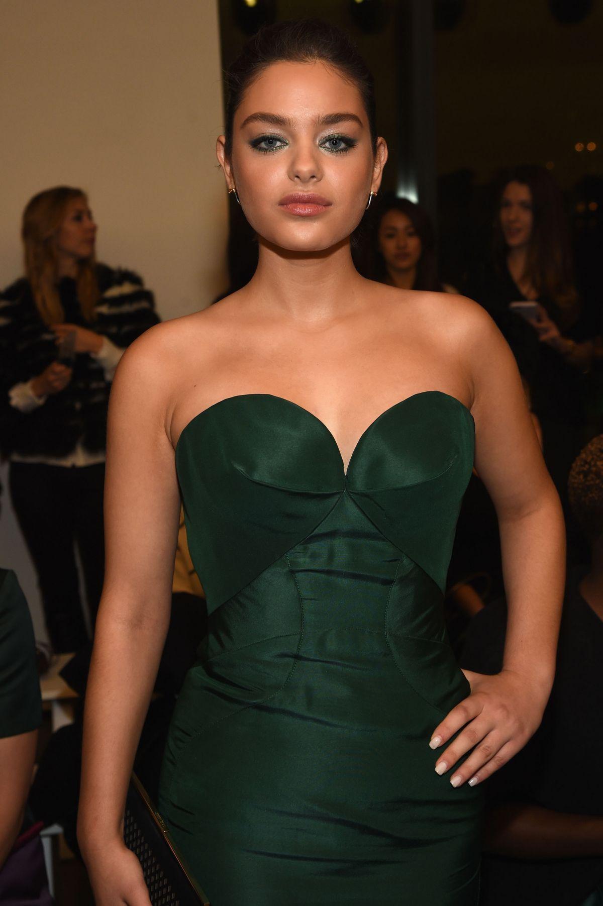 ODEYA RUSH at Zac Posen Fashion Show in New York Fashion Week 02/15/2016