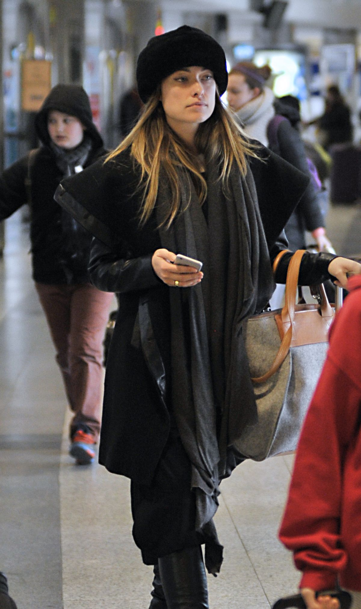 OLIVIA WILDE at JFK Airport in New York 02/13/2016