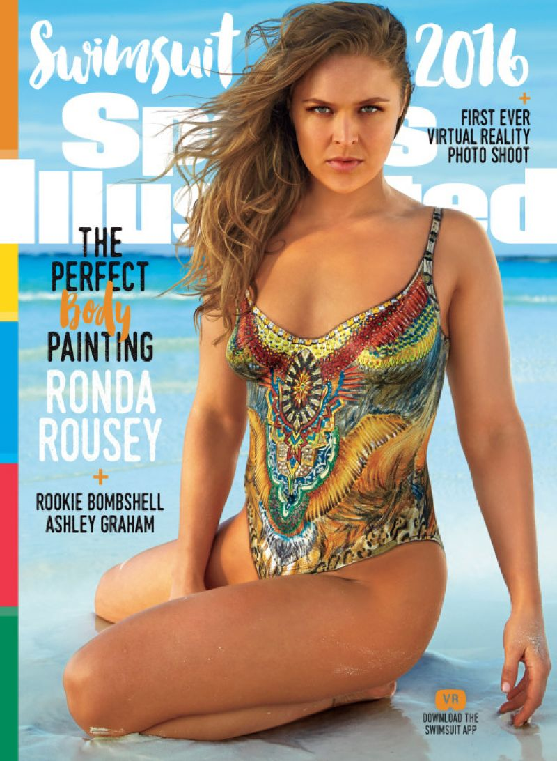 RONDA ROUSEY in 2016 Sports Illustrated Body Paint Swimsuit Issue mq