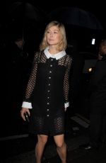 ROSAMUND PIKE Arrives at Charles Finch Pre-bafta Party in London 02/13/2016