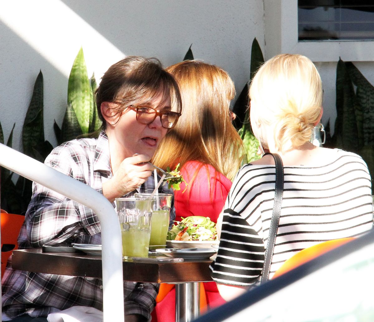 SALLY FIELD and a Friend Out for Lunch in West Hollywood 02/07/2016