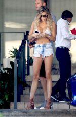 SAMANTHA HOOPES in Daisy Dukes and Bikini Top Ou in Miami 02/19/2016