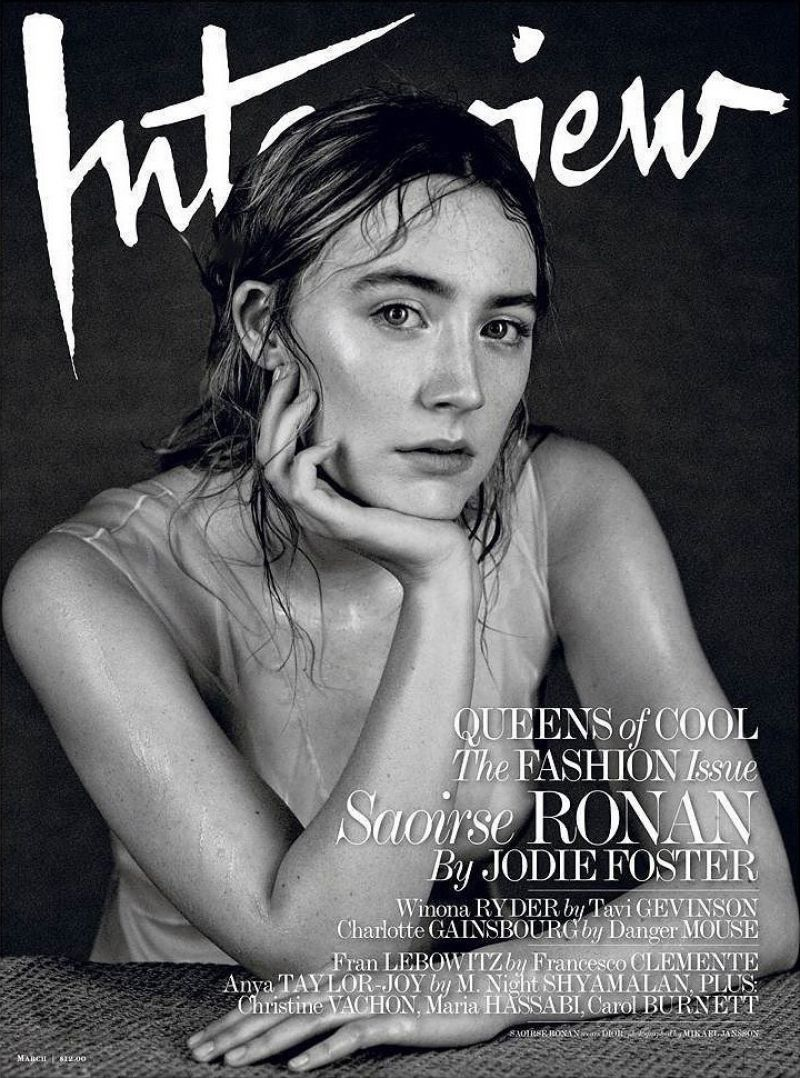 SAOIRSE RONAN in Interview Magazine, March 2016 Issue