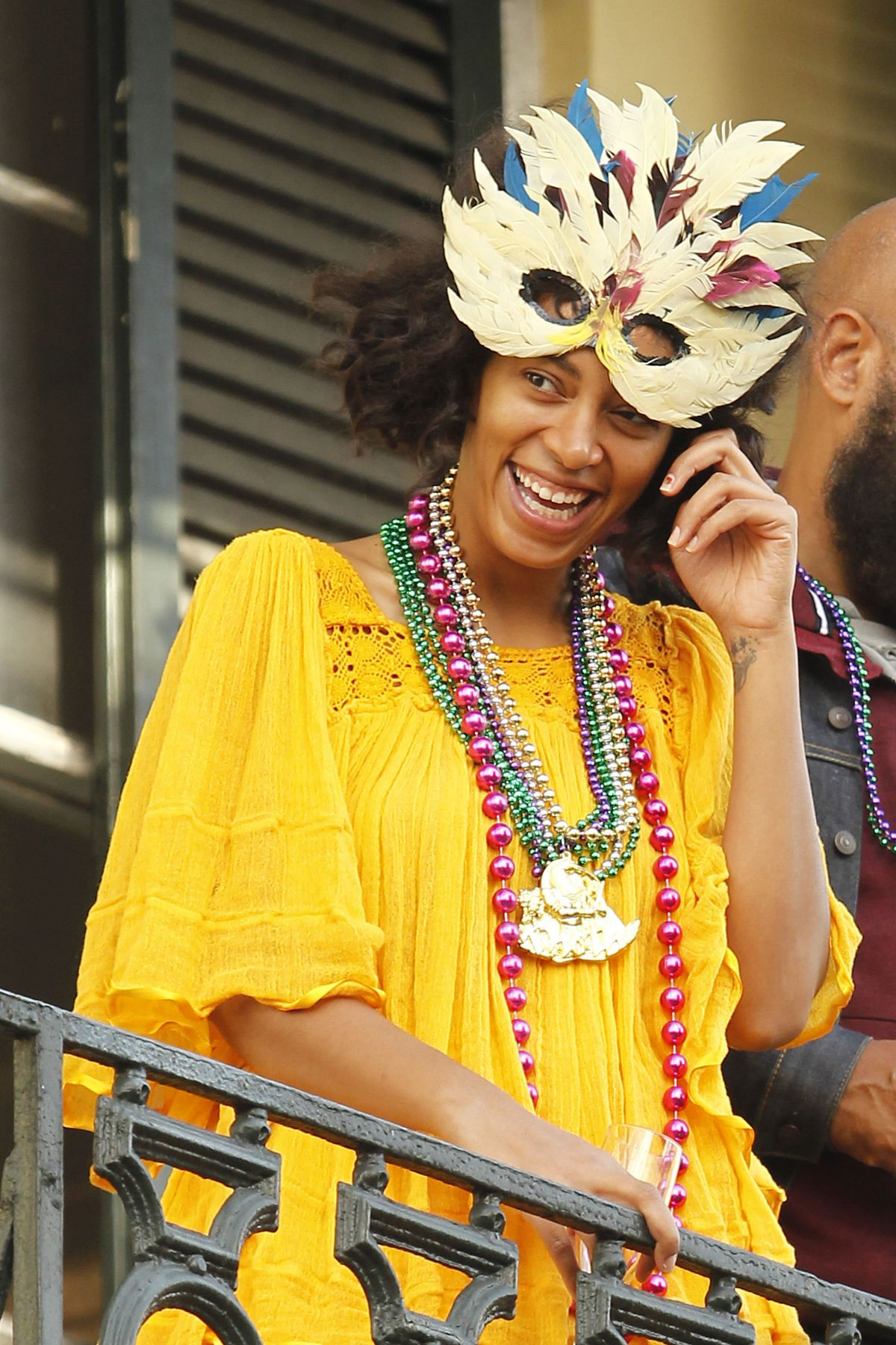 SOLANGE KNOWLES Watching Mystic Krew of Barkus Parade in New Orleans 01/31/2016
