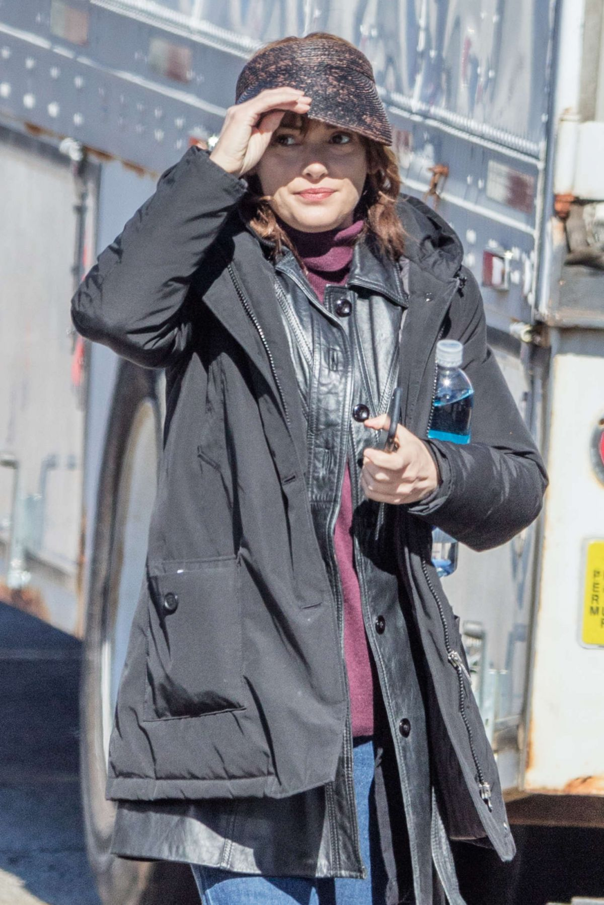WINONA RYDER on the Set of Strange Things in Indiana 02/05/2016