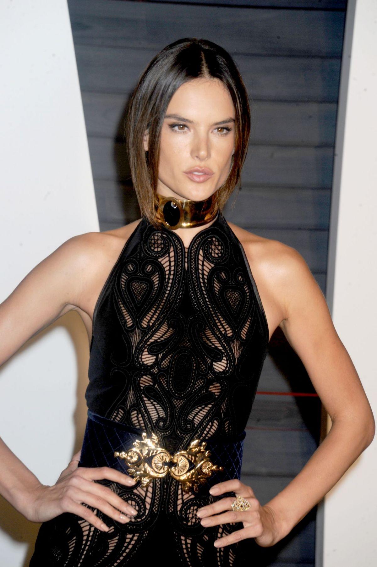 ALESSANDRA AMBROSIO at Vanity Fair Oscar 2016 Party in ... Alessandra Ambrosio