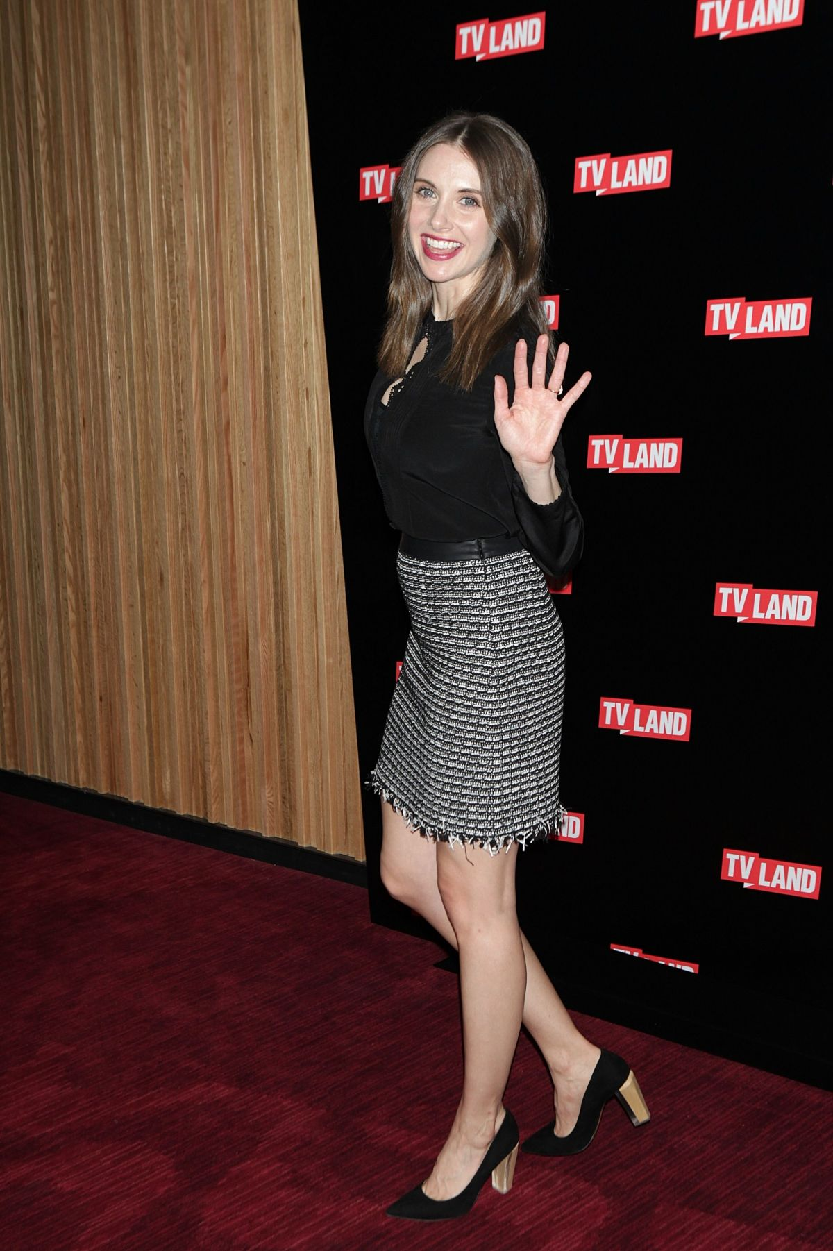 ALISON BRIE at Nick at Nite, TVLand and CMT Upfront in New York 03/03/2016