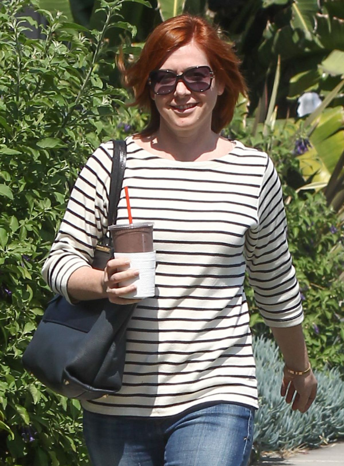ALYSON HANNIGAN Out and About in Los Angeles 03/18/2016