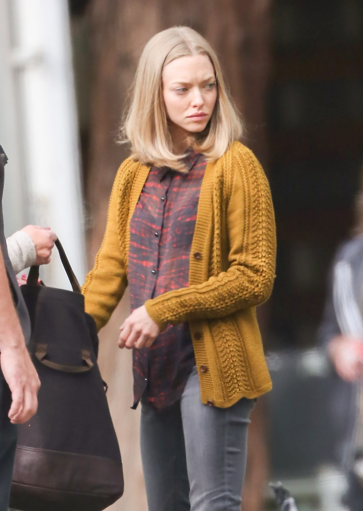 AMANDA SEYFRIED on the Set of 'The Last Word' in Los ...