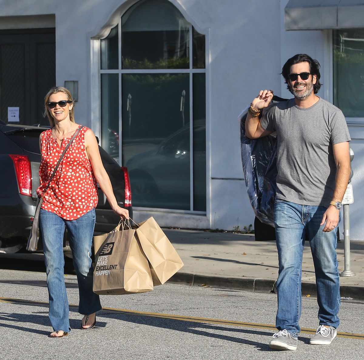 AMY SMART Out Shopping at New Balance