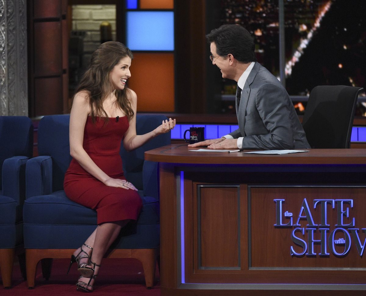 ANA KENDRICK at Late Show with Stephen Colbert 03/10/2016