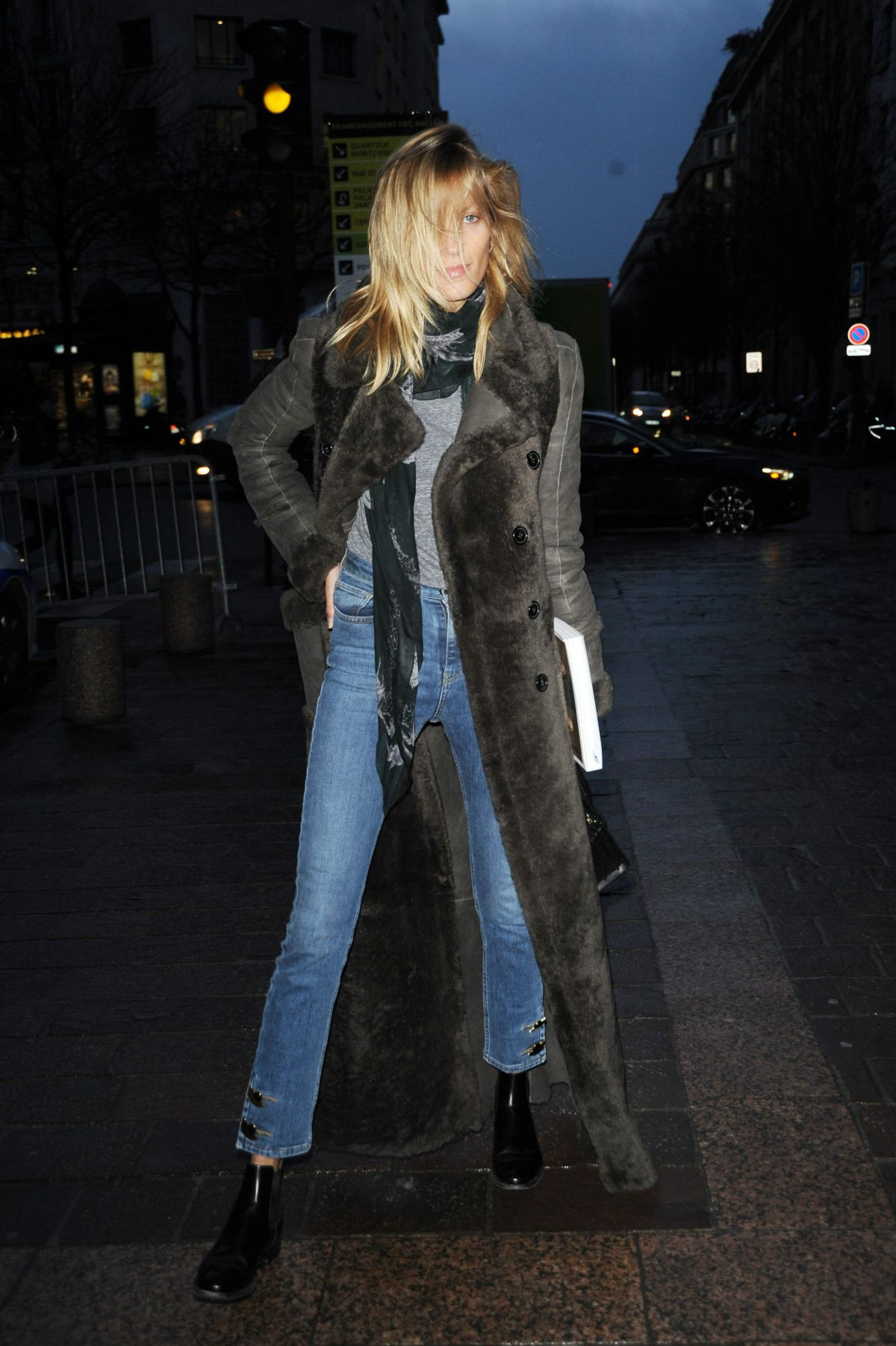 ANJA RUBIK at H&M Fashion Show at Paris Fashion Week 03/02/2016