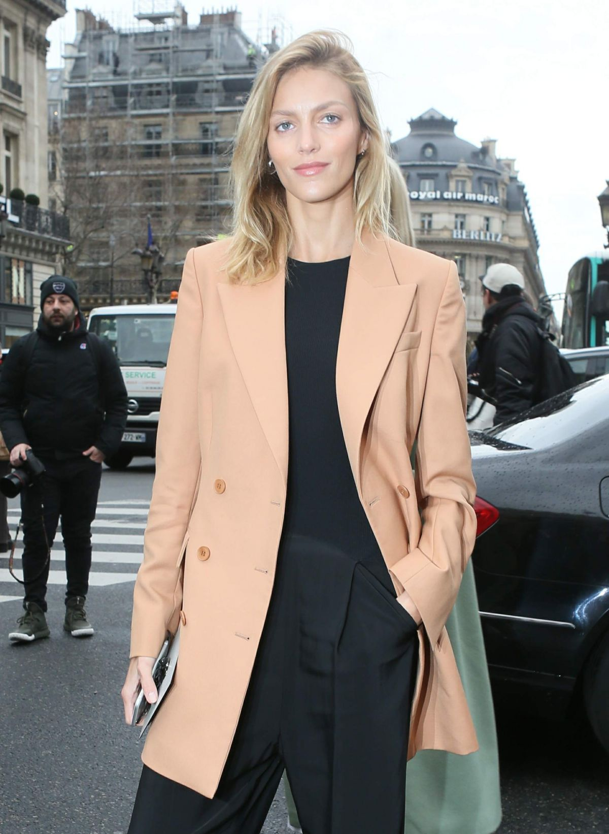 ANJA RUBIK at Stella McCartney Fashion Show in Paris 03/07/2016
