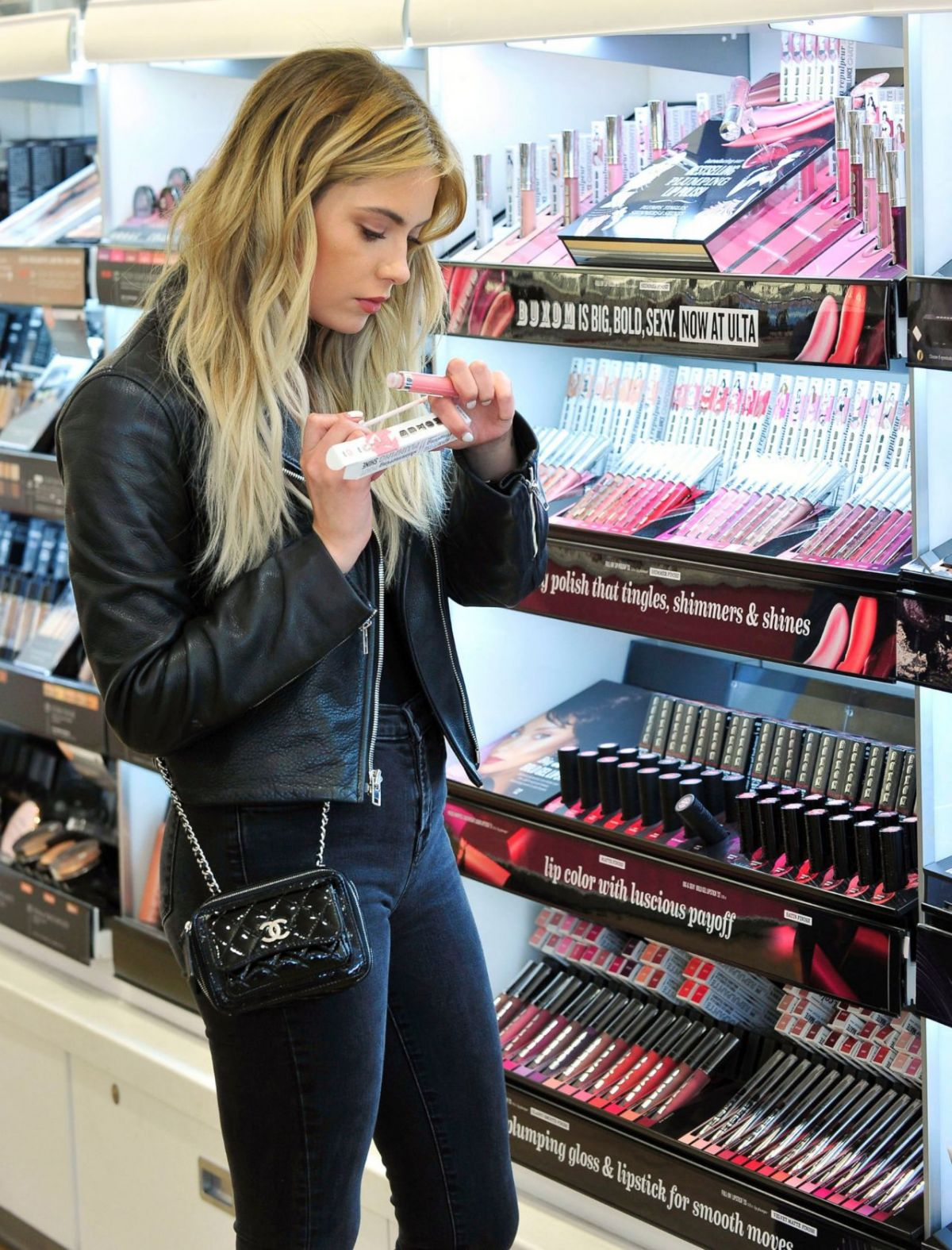 Ashley Benson Shopping For Buxom Cosmetics At Ulta Beauty