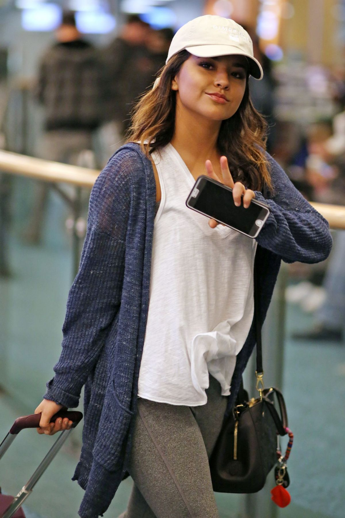 BECKY G at Airport in Vancouver 03/27/2016