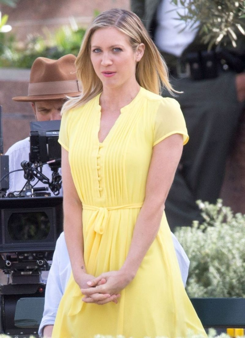 BRITTANY SNOW on the Set of Lipton Tea Commercial in Los Angeles 03/21/2016