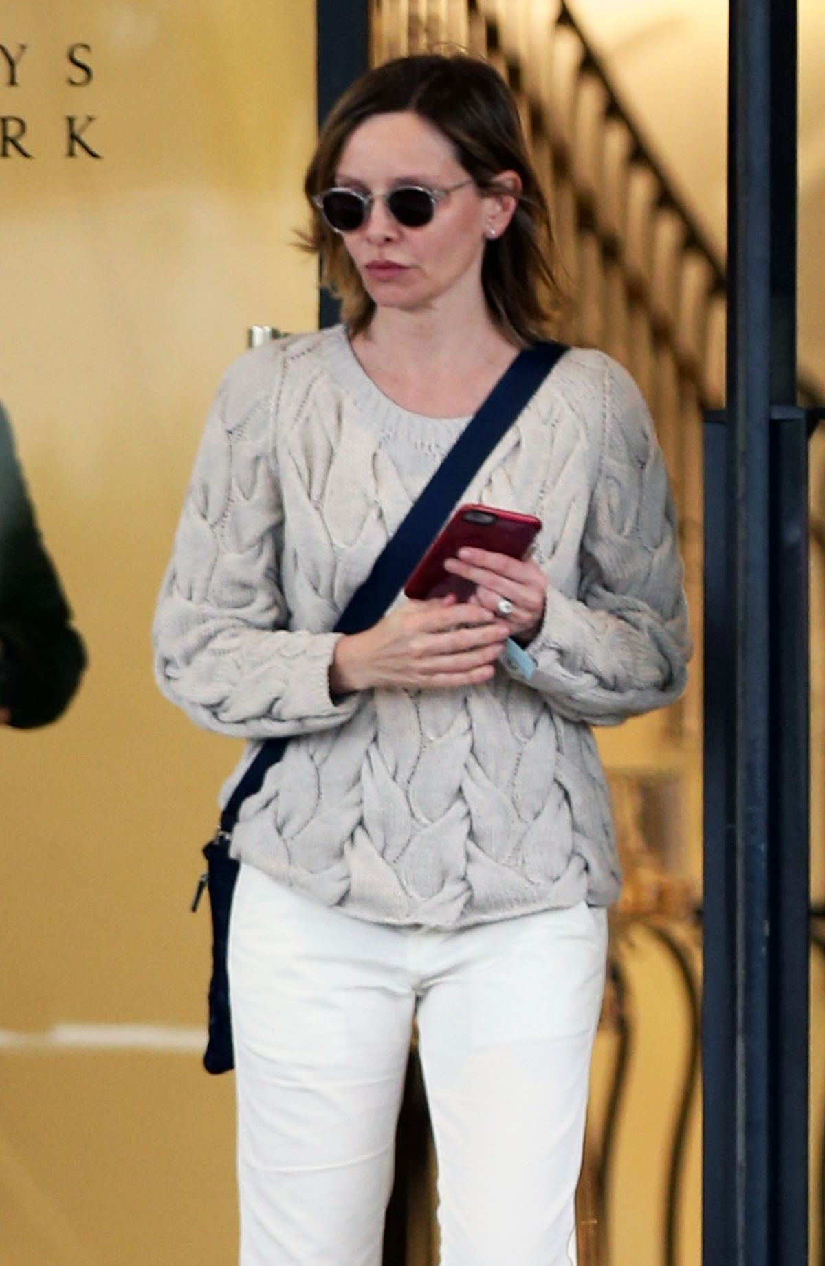 CALISTA FLOCKHART Out Shopping in Los Angeles 03/11/2016