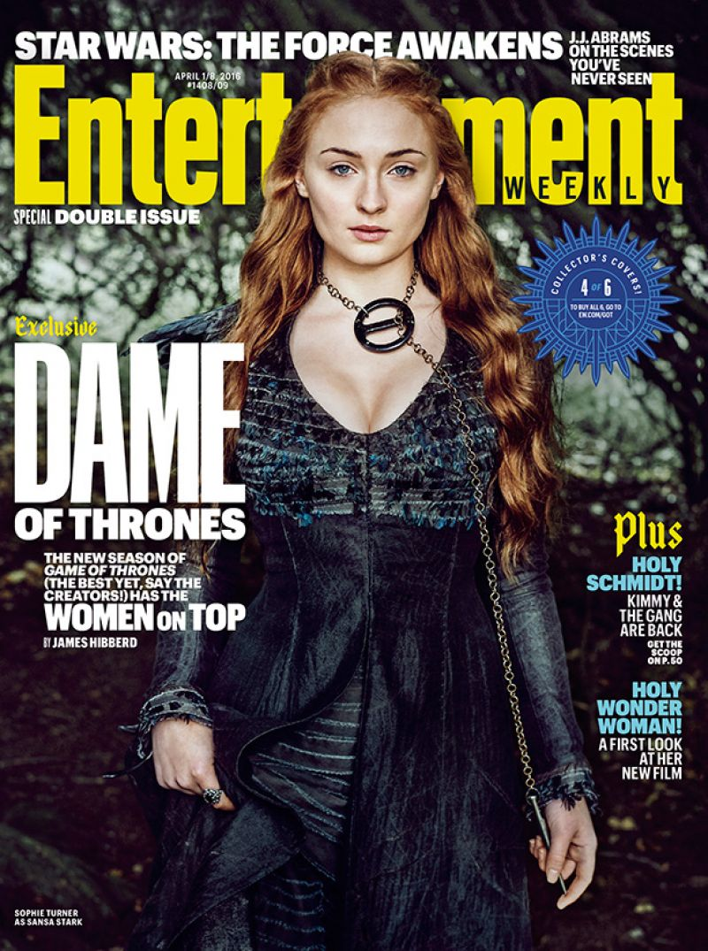 DAME OF THRONES on Entertainment Weekly Covers, April 2016