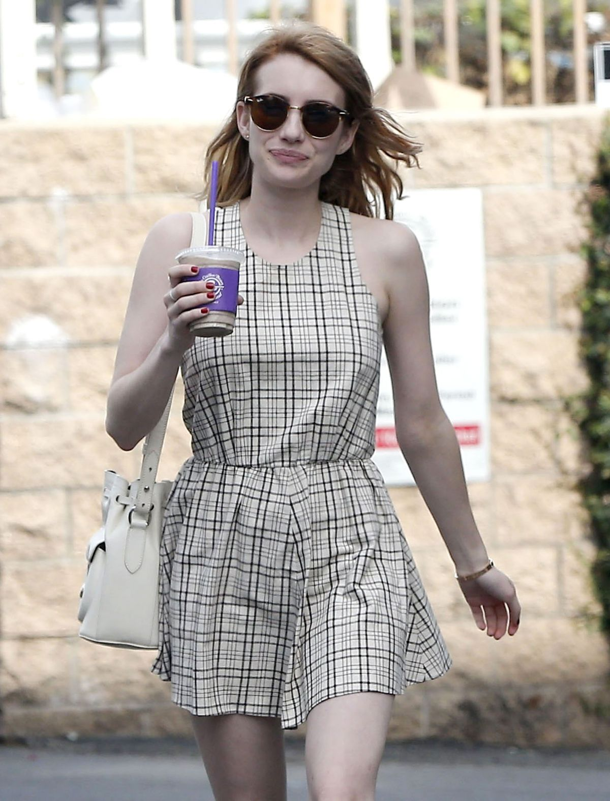 EMMA ROBERTS Out and About in Los Angeles 03/27/2016