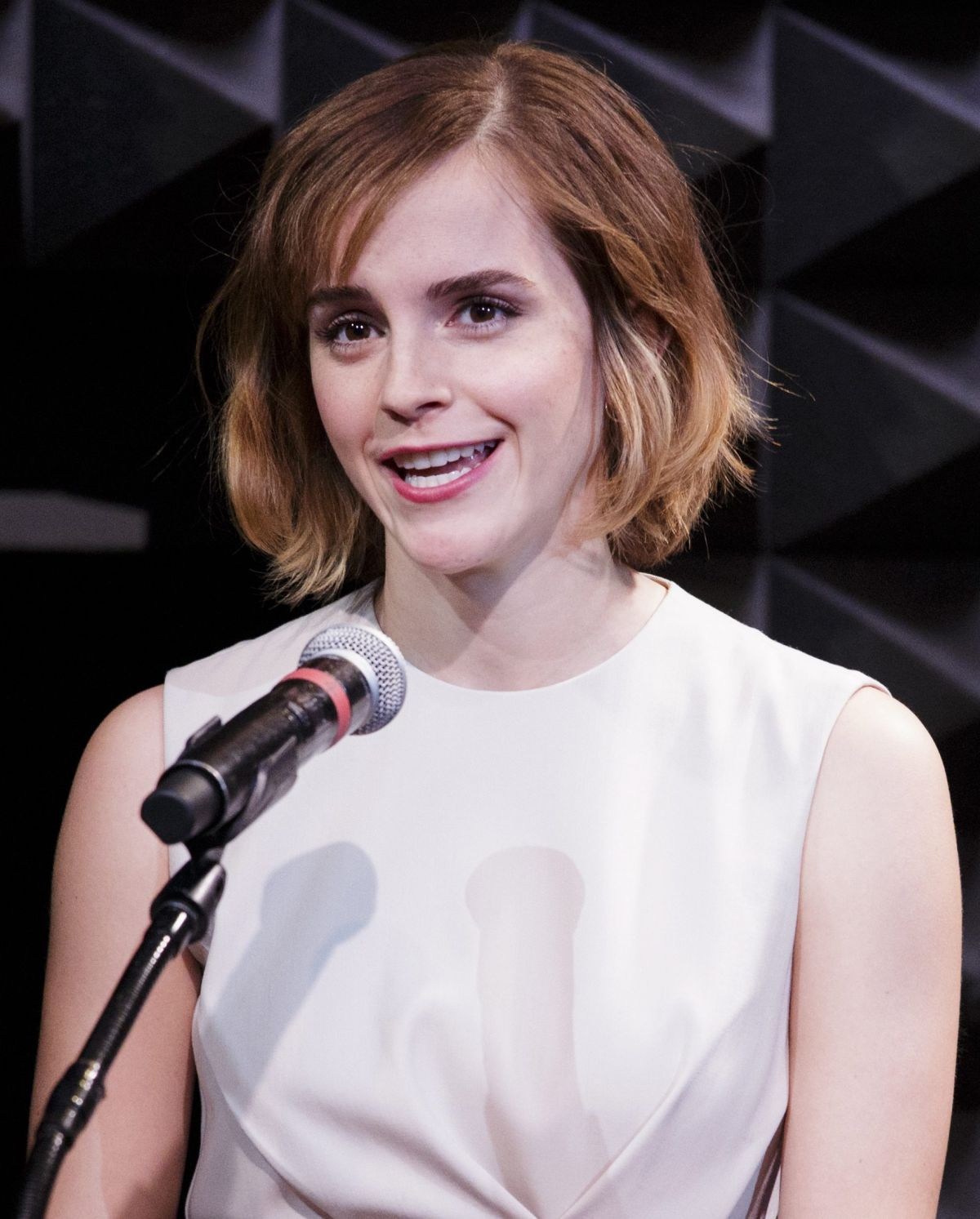 EMMA WATSON at Heforshe Art Week Launch at Public Theater in New York 03/08/2016