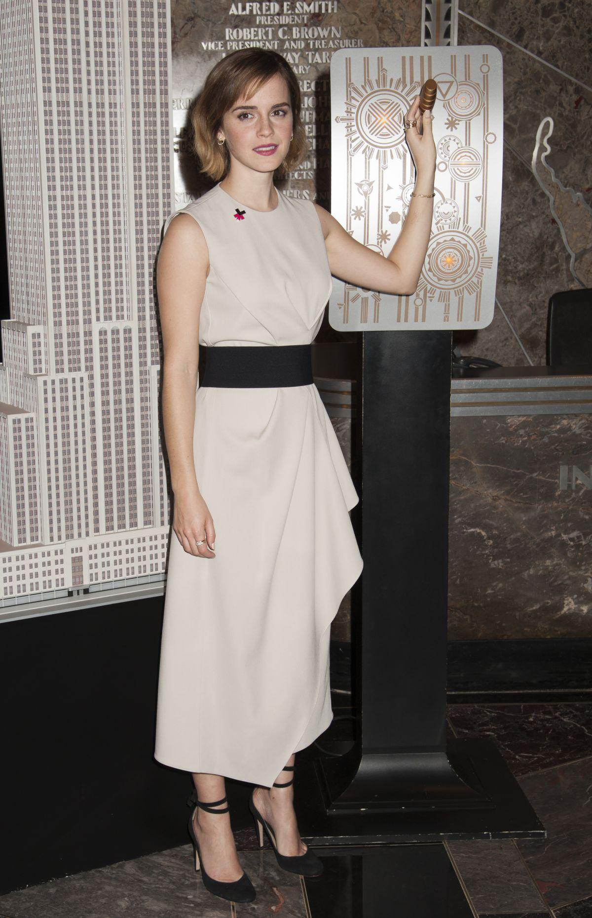 EMMA WATSON Lights Empire State Building for International Women