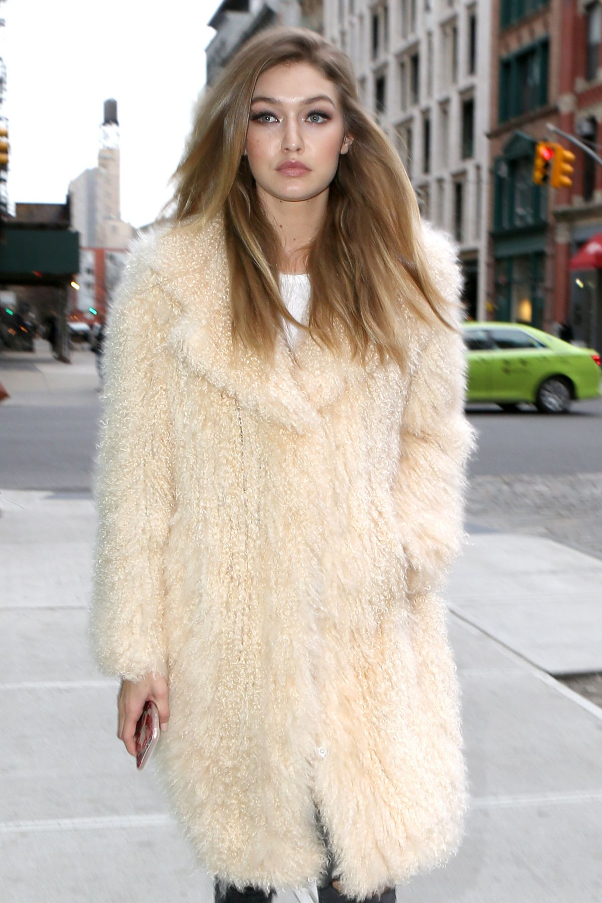 GIGI HADID Out in New York 03/18/2016