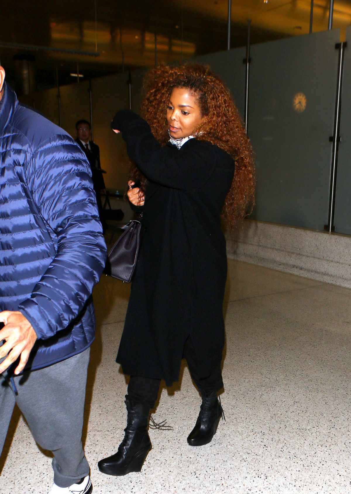 JANET JACKSON at LAX Airport in Los Angeles 03/09/2016