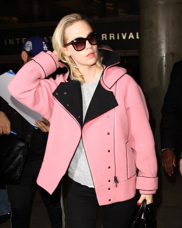 JANUARY JONES at Los Angeles International Airport 03/09/2016