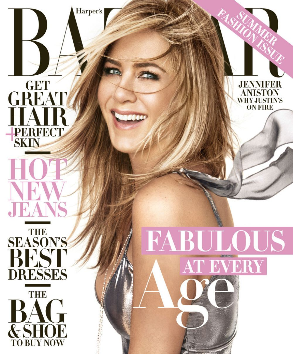 JENNIFER ANISTON in Harper's Bazaar Magazine, April 2016 Issue - HawtCelebs -...