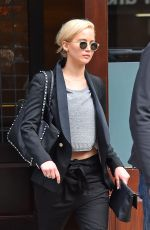 JENNIFER LAWRENCE Leaves Her Hotel in New York 03/26/2016