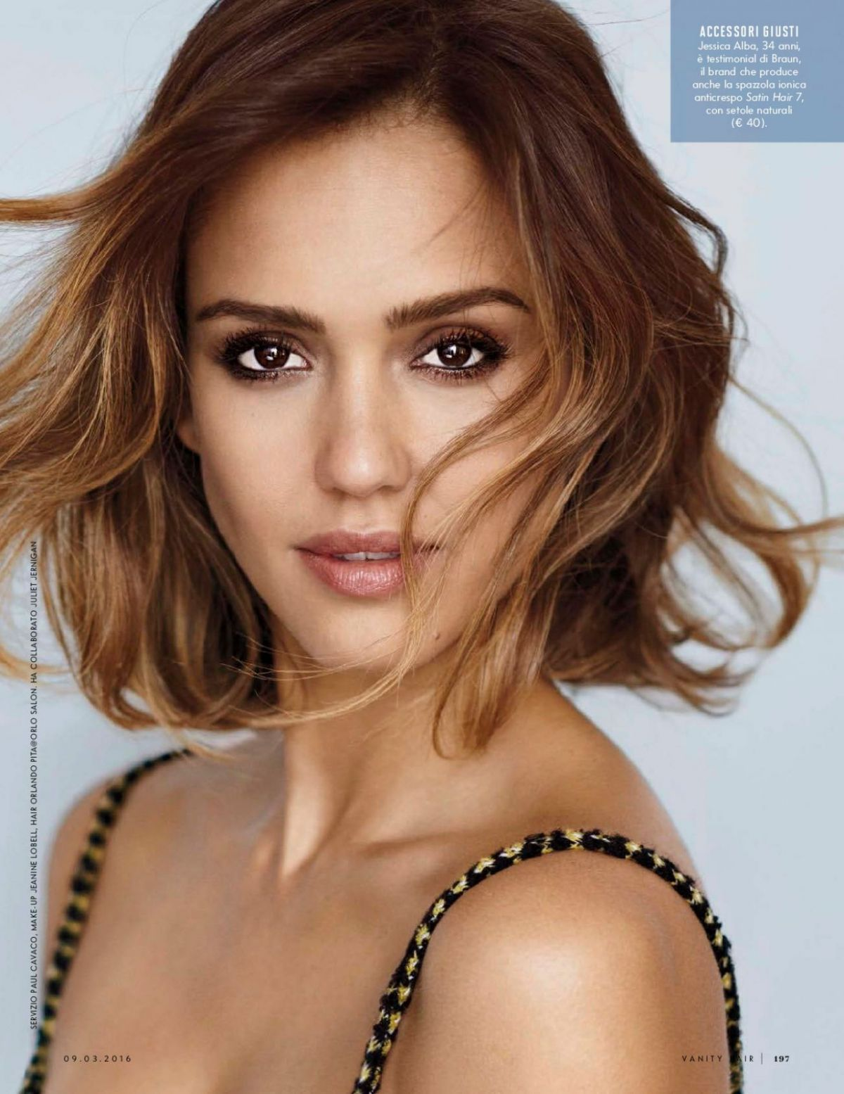 JESSICA ALBA in Vanity Fair Magazine, Italy March 2016 Issue