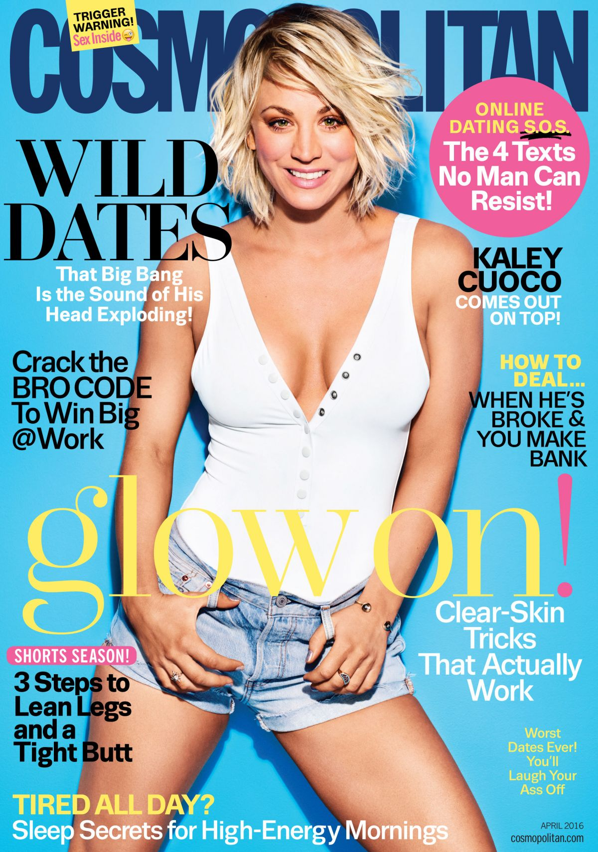 KALEY CUOCO in Cosmopolitan Magazine, April 2016 Issue ... Hayden Panettiere Fansite