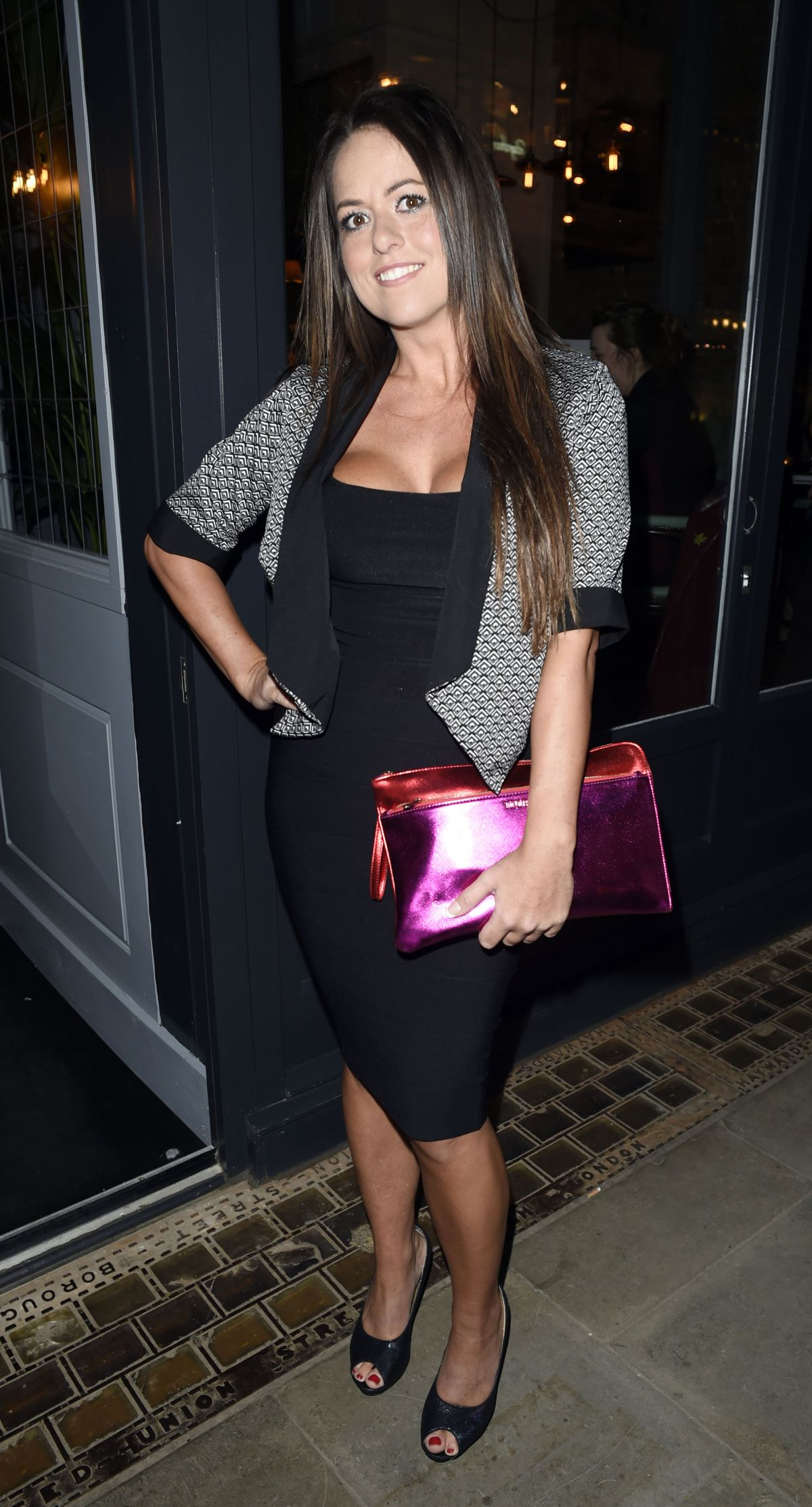 KAREN DANCZUK at Elgato Negro Tapas Restaurant in Manchester 02/29/2016