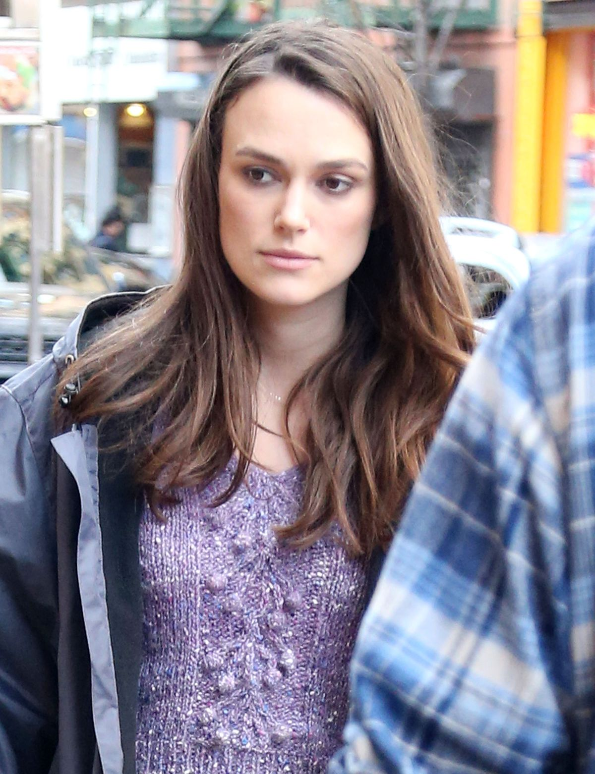 KEIRA KNIGHTLEY on the Set of 'Collateral Beauty' in New ... Keira Knightley