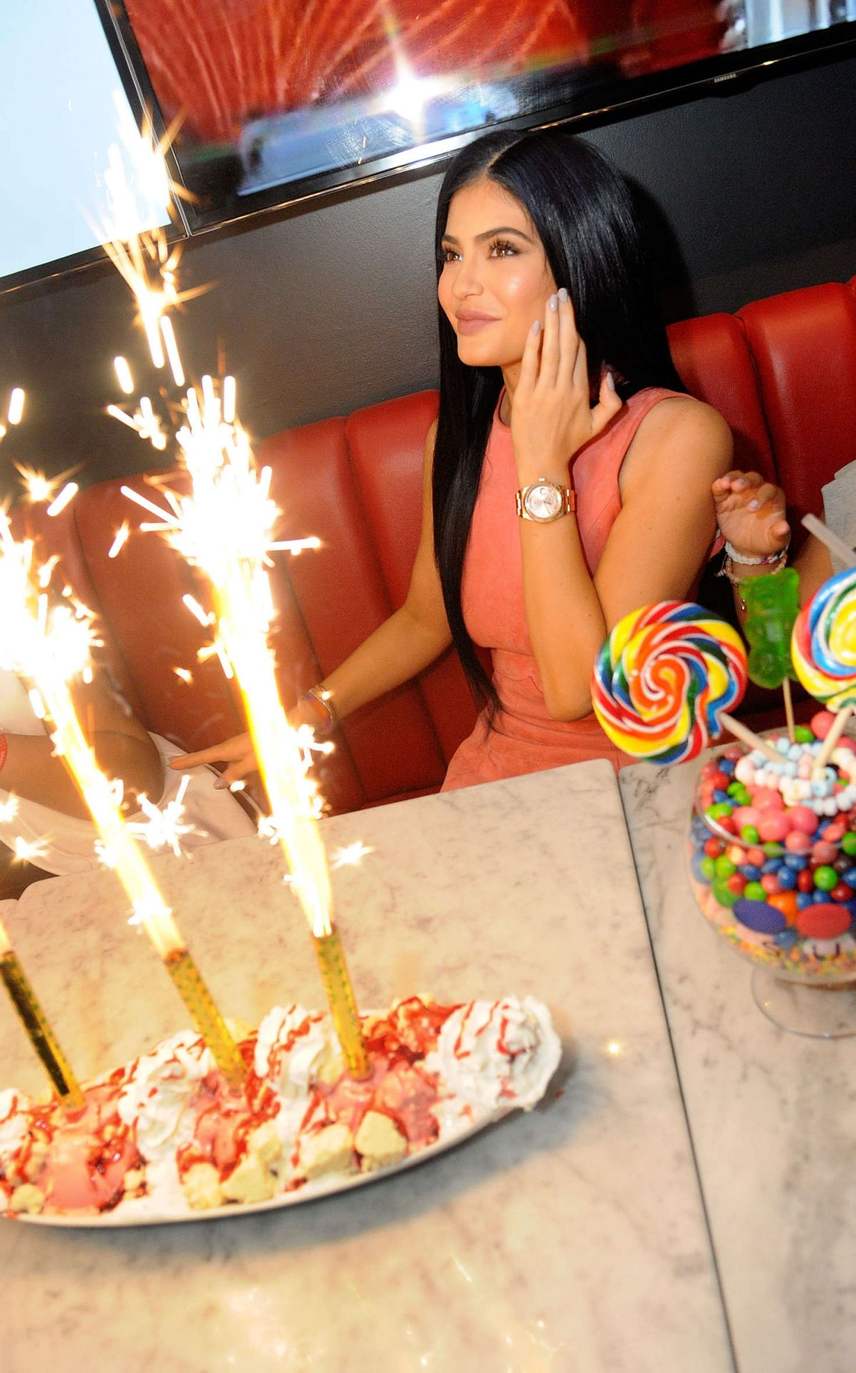 Sugar Factory American Brasserie Grand: KYLIE JENNER At Sugar Factory Opening In Orlando 03/11