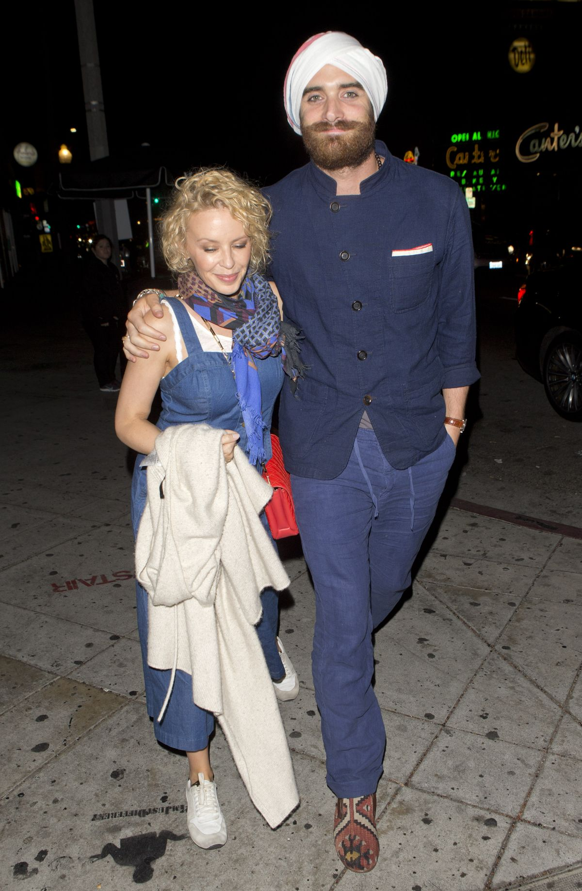 Kylie Minogue Arrives At Lady Gaga S 30th Birthday Party In Los