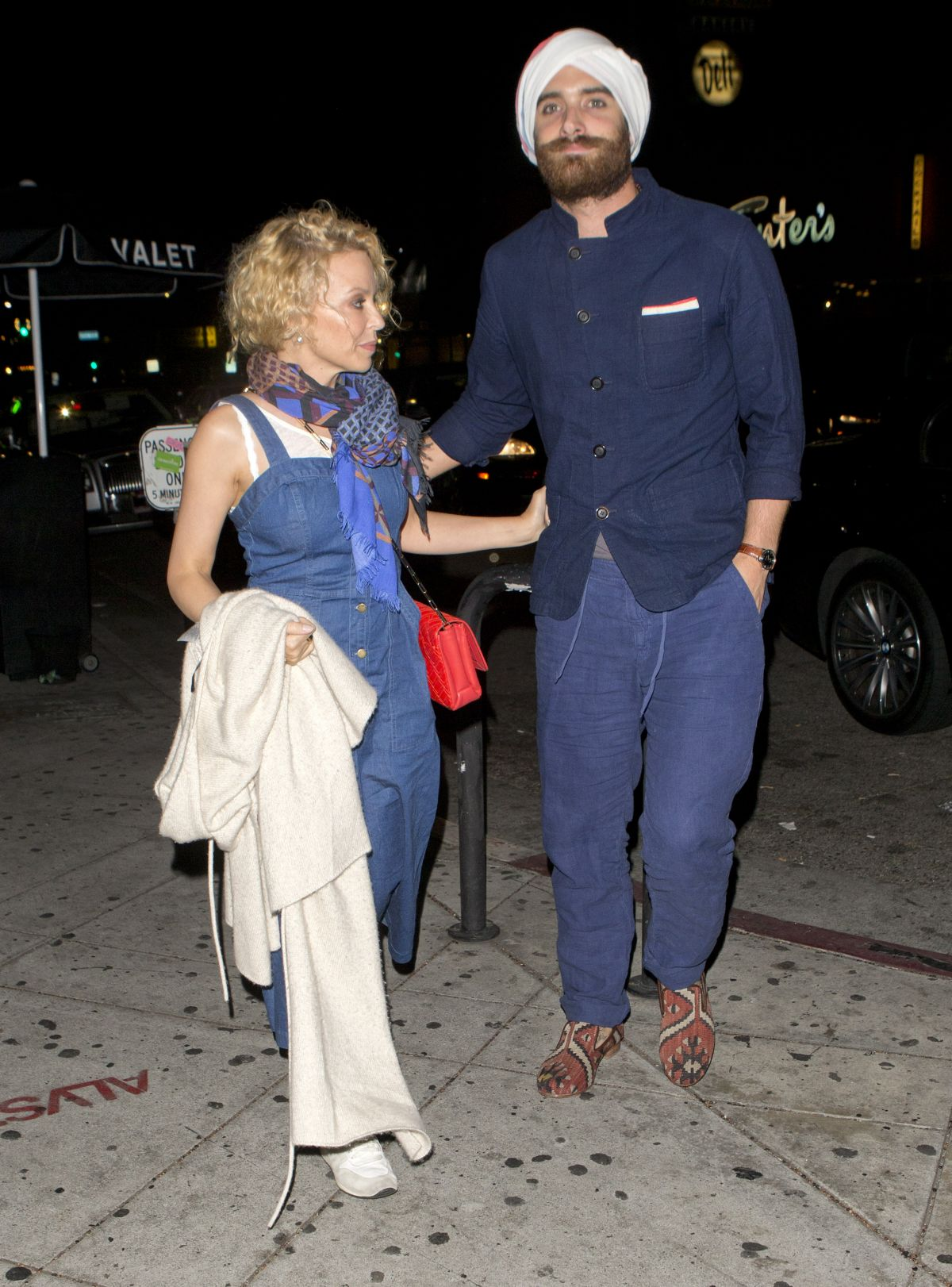 KYLIE MINOGUE Arrives At Lady Gagas 30th Birthday Party In Los Angeles 03 26