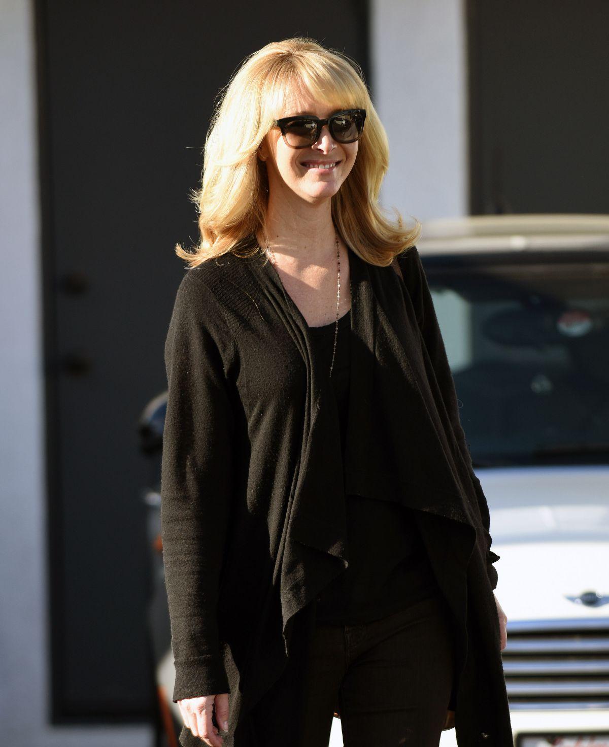 LISA KUDROW Leaves Meche Salon in Beverly Hills 03/22/2016